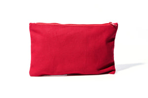 11.5 x 7 in Red Zipper Pouch