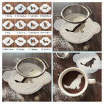 Dog Coffee Cappuccino Cocoa powder Stencil