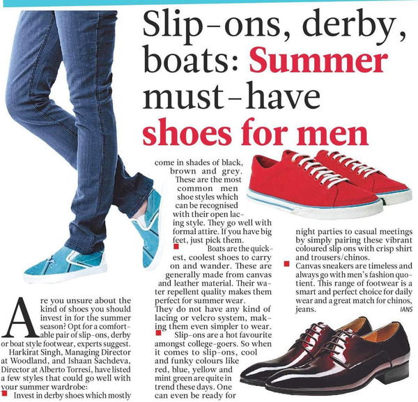 SLIP-ONS, DERBY , BOATS : SUMMER MUST-HAVE SHOES FOR MEN