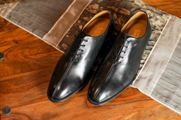ALBERTO TORRESI MENS ROARK BLACK DERBY SHOES