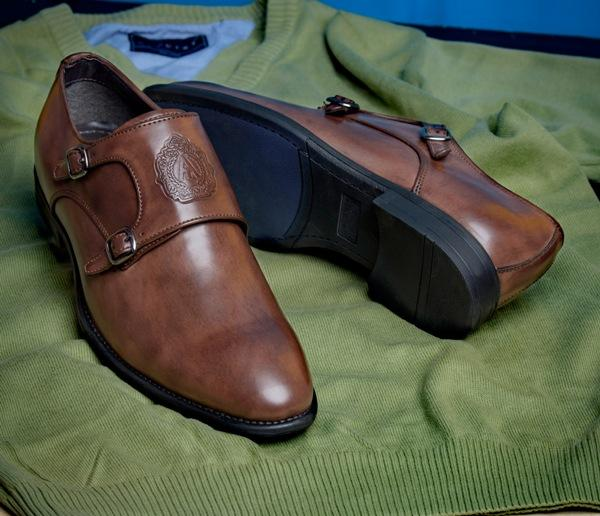 ALBERTO TORRESI MEN BROWN FORMAL SHOES