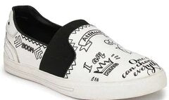 MEN TOBIAS WHITE & BLACK SNEAKERS