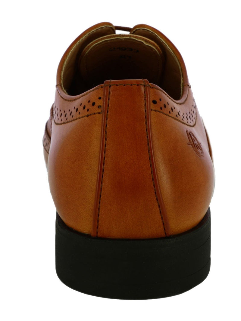 Tan Brogue Shoes For Men