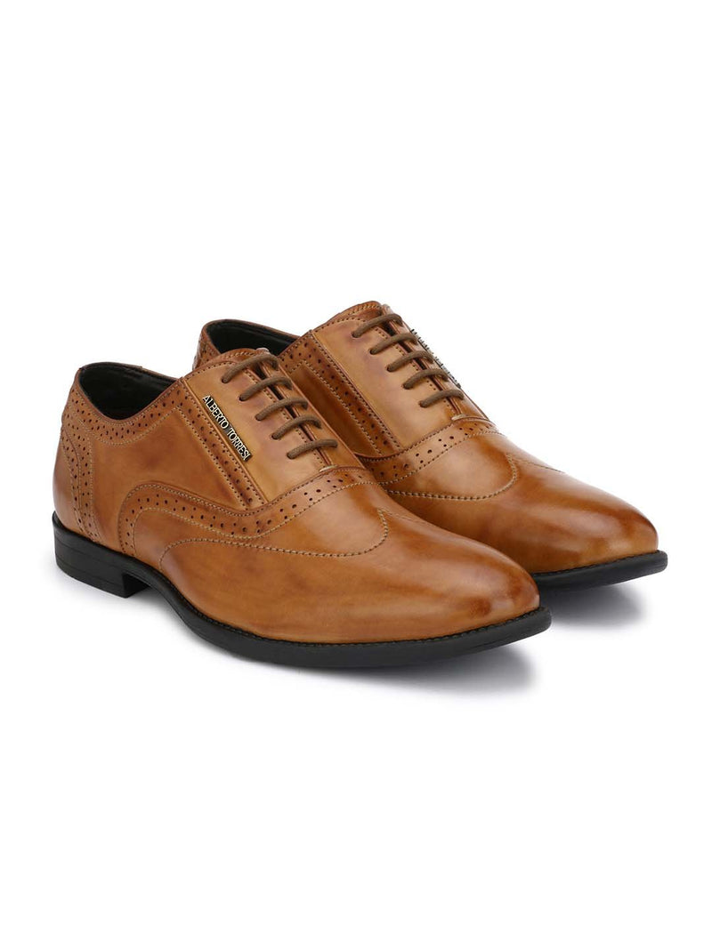Alberto Torresi Koustom Tan Formal Shoes