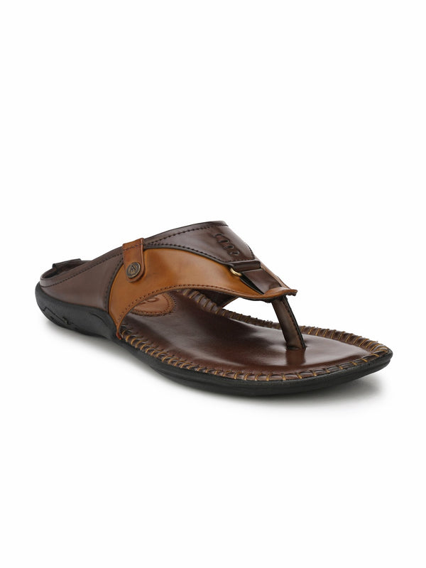 Alberto Torresi Men Dark Brown Outdoor Slippers