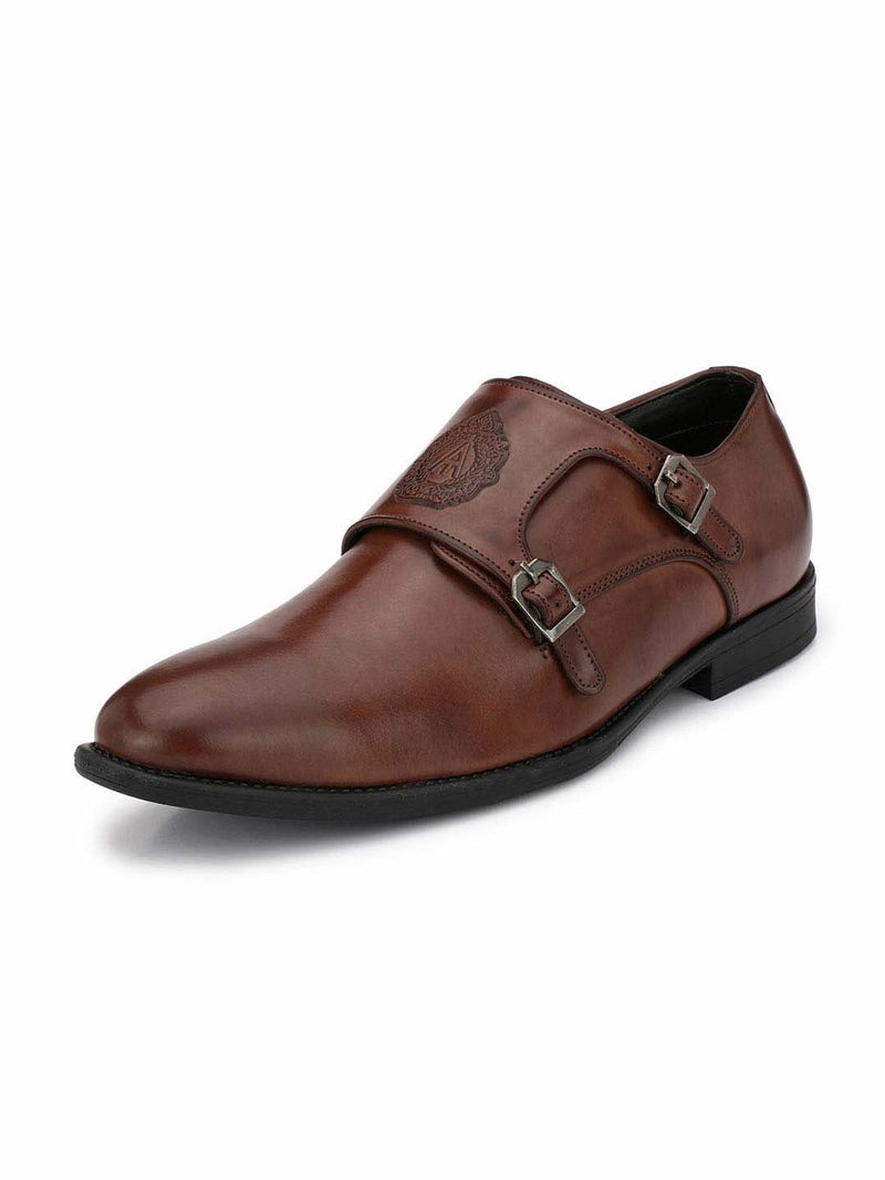 Alberto Torresi Men's Toro Brown Double Monk Straps