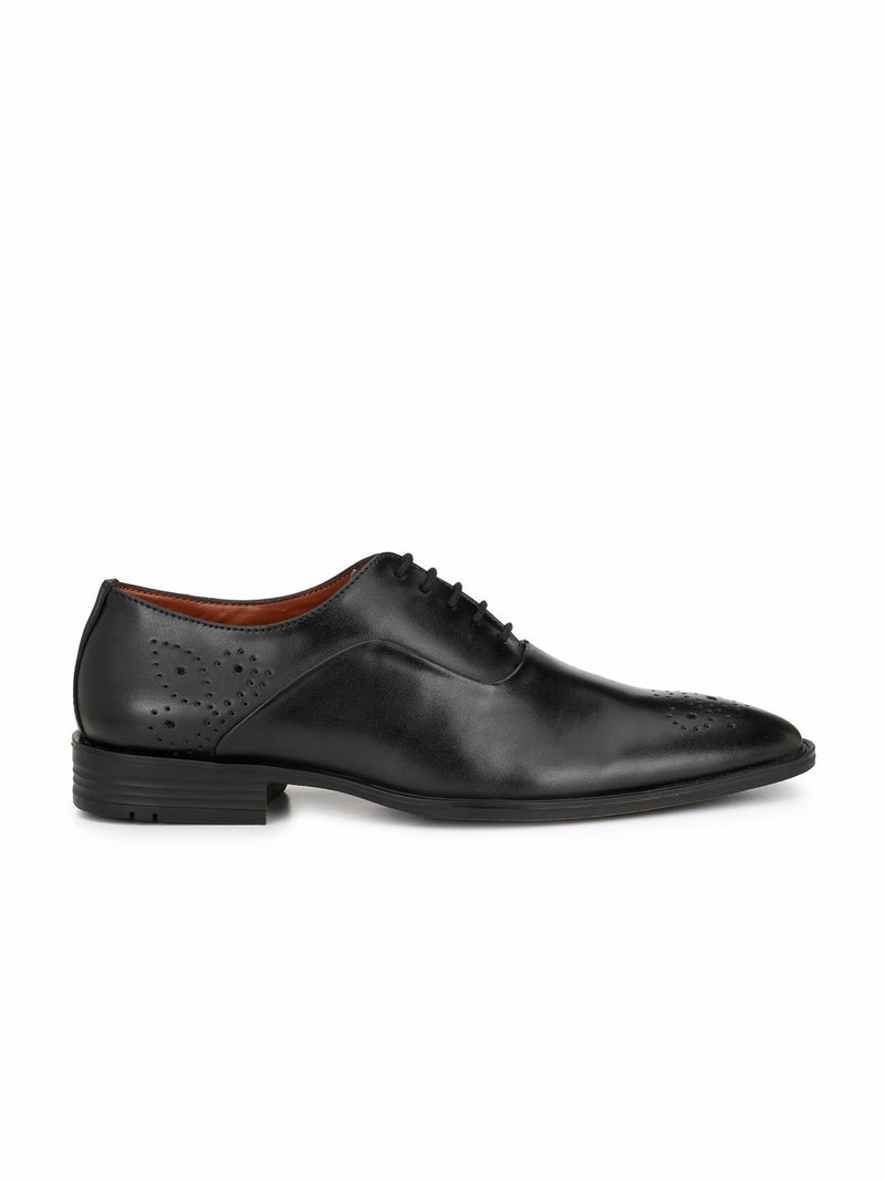 Alberto Torresi Men Jacianta Black Formal Shoes