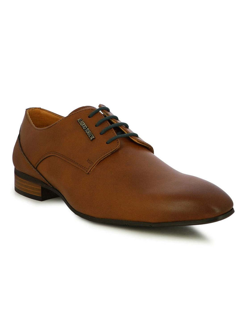 Alberto Torresi Men's Pyro Tan and Blue Formal shoes