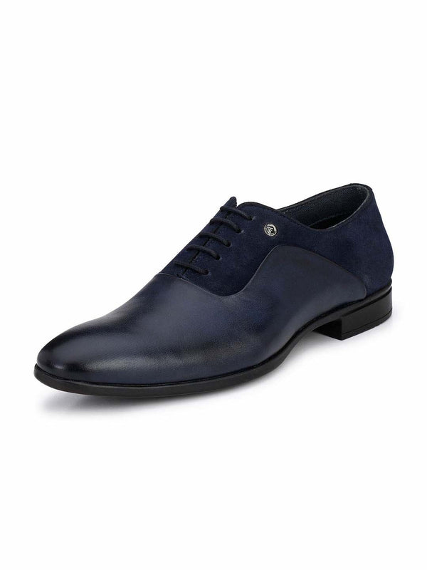 Alberto Torresi Navy Blue Men Formal Shoes