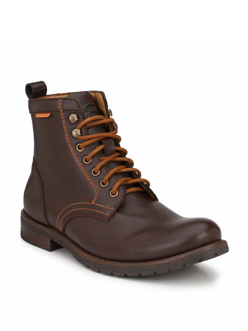 Alberto Torresi Men Brown & Tan  Adonis Boots