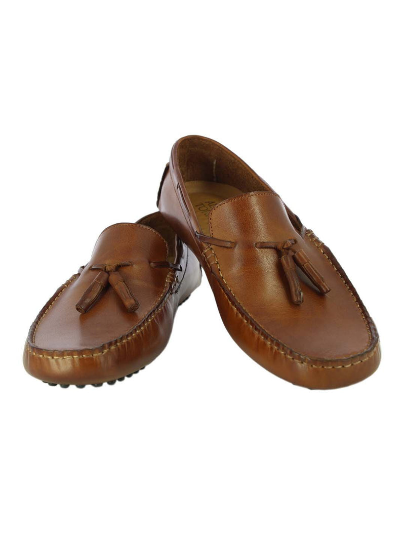 Alberto Torresi Mens Jamie Tan Ruched Loafers