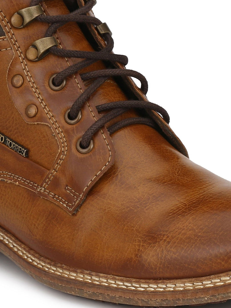 Alberto Torresi Men Tan Brown  Carter Boots