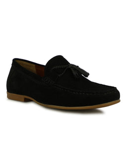 Scott Men's Black Suede Tassel Loafers