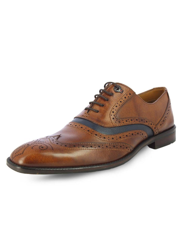Alberto Torresi Mens Matteo Tan Oxford Shoes