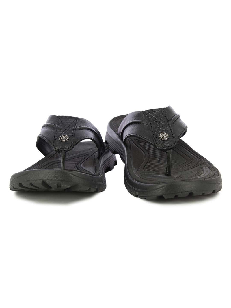 Alberto Torresi Mens Black Finley Slippers