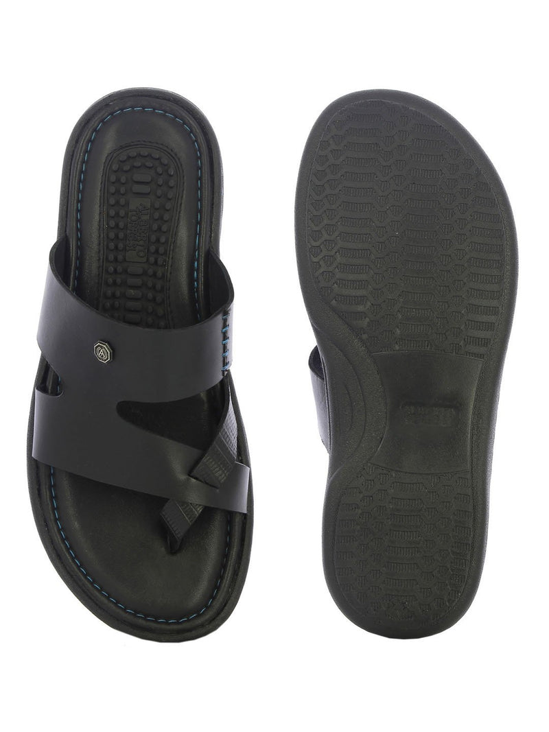 Alberto Torresi Men's Colam Black Slippers