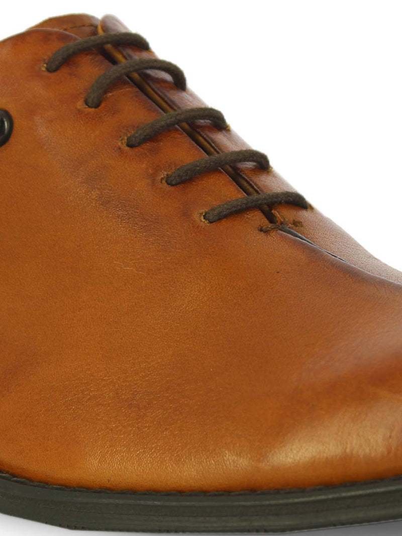 Alberto Torresi Mens Roark Tan Derby shoes