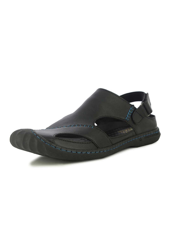 Alberto Torresi Mens Black Louie Sandals