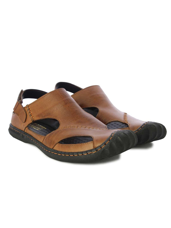 Alberto Torresi Mens Tan Louie Sandals