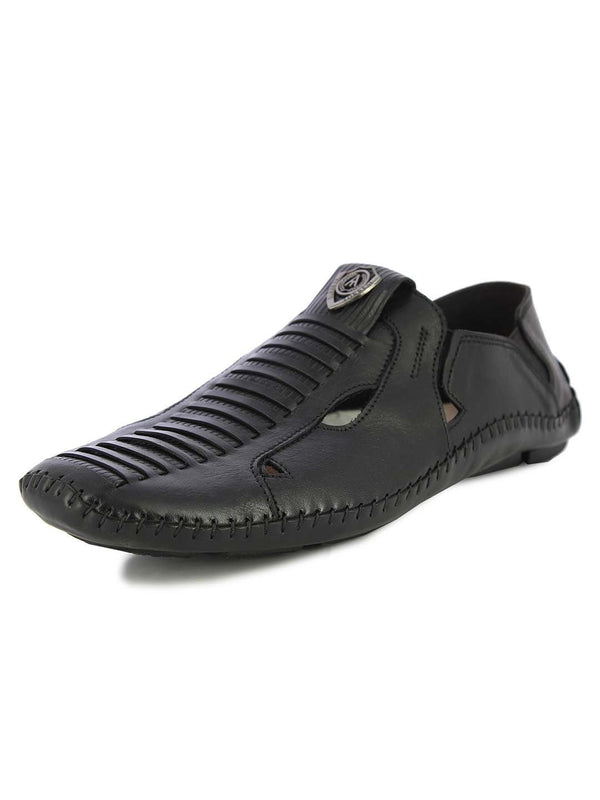 Alberto Torresi Mens Black Adam Sandals