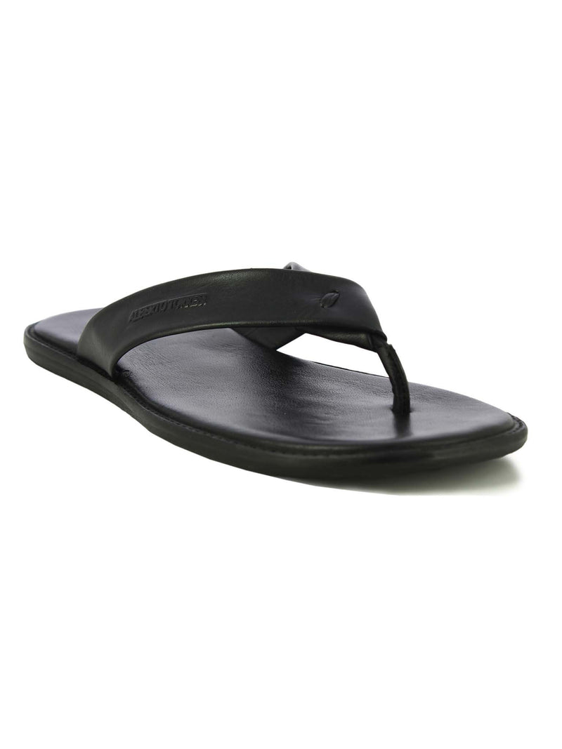 Alberto Torresi Berdo Men's Black Slippers