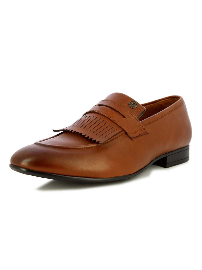 Alberto Torresi Men's Viktor tan Fringed formal shoes