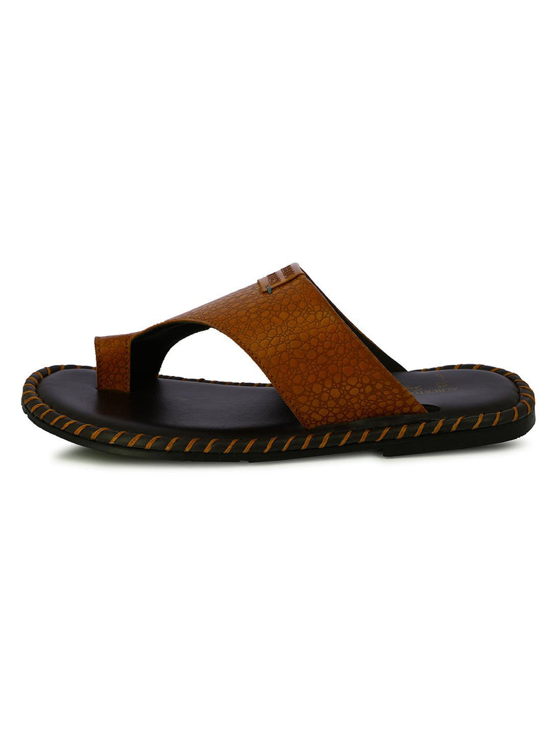 ALBERTO TORRESI MEN'S TAN SLIPPERS