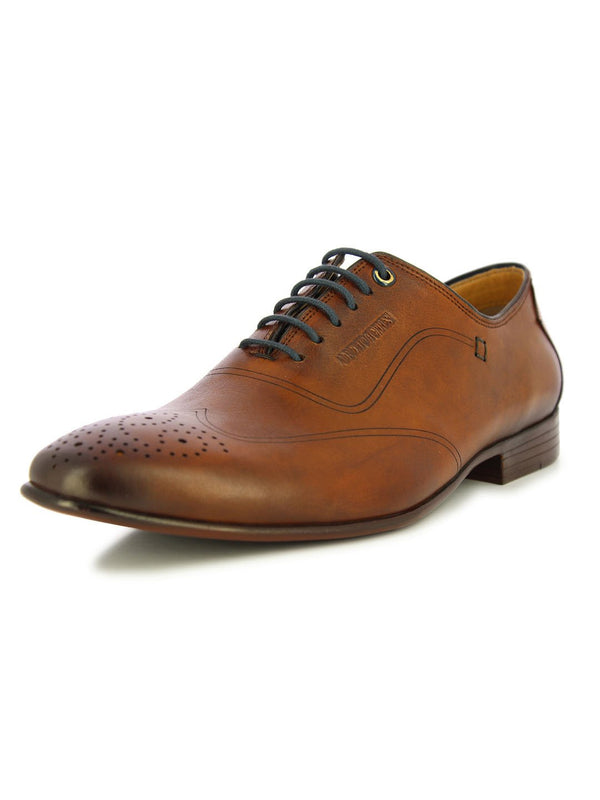 Alberto Torresi Men's Tan formal lace up shoes