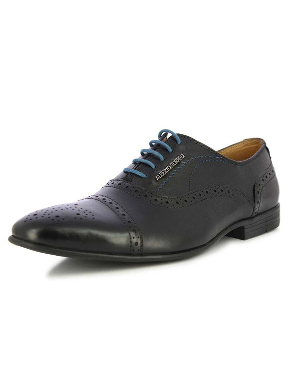 Alberto Torresi Men's Charles Black Formal Shoes