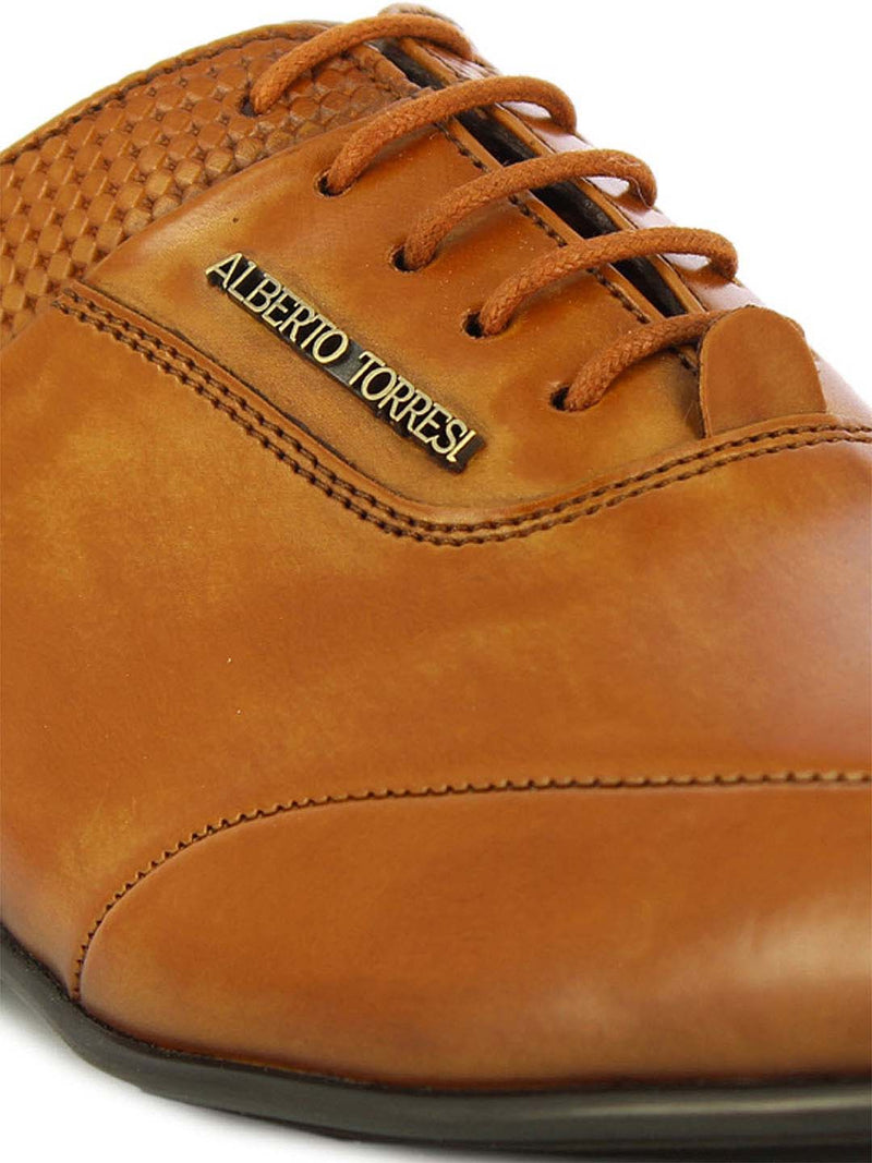 Alberto Torresi Men's Askon Tan Oxford Shoes