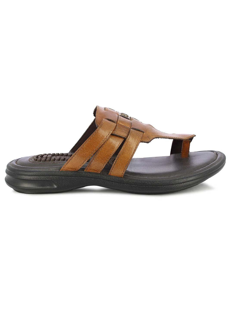 Alberto Torresi Javea Men's Tan Slippers