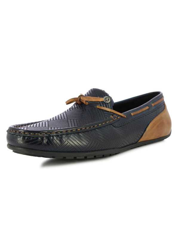 Alberto Torresi Men's Ashton Blue Casual Loafers