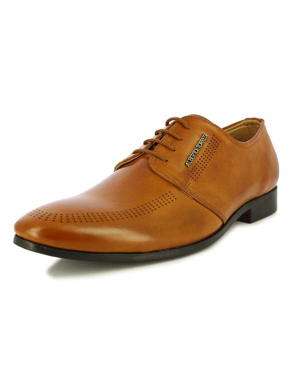 Alberto Torresi Men's Austin tan formal shoes