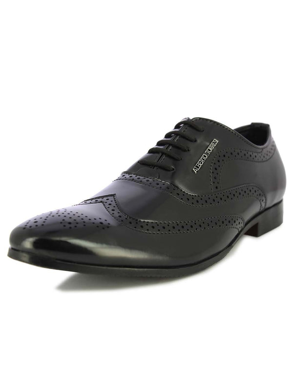 Alberto Torresi Men's Memphis Black Formal Shoes
