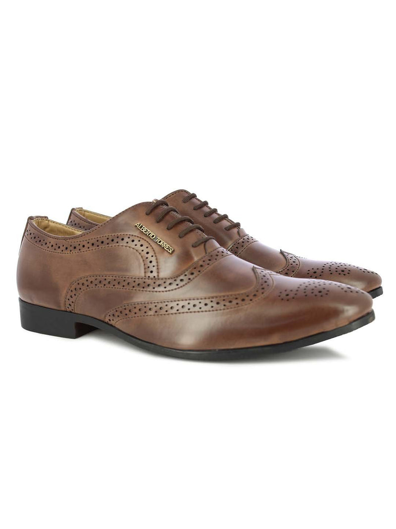 Alberto Torresi Men's Memphis Brown Formal Shoes