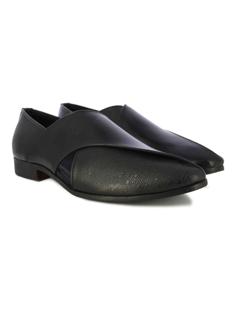 Alberto Torresi Men's Alattio Black Slipons