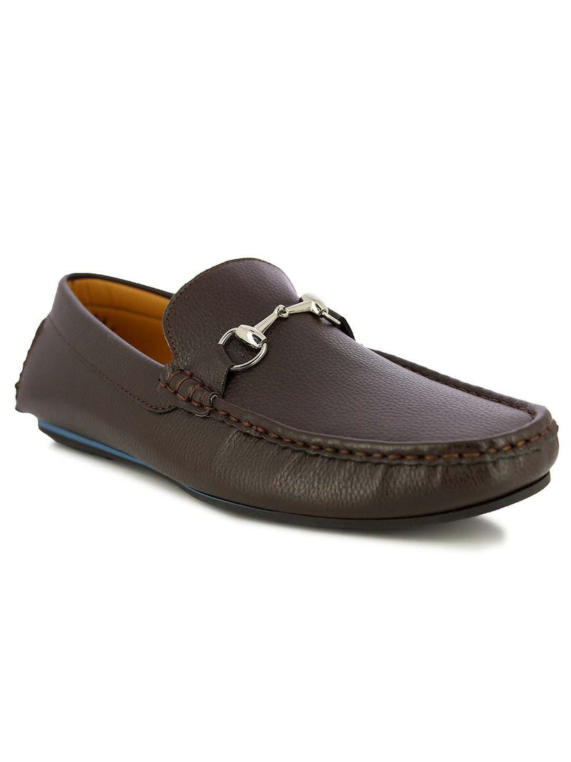 Alberto Torresi Men's Barton Brown buckled Loafers