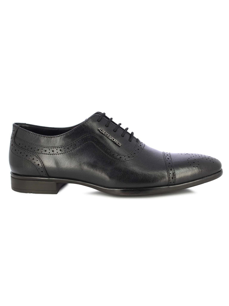Alberto Torresi Men's Ginom Black Formal Shoes