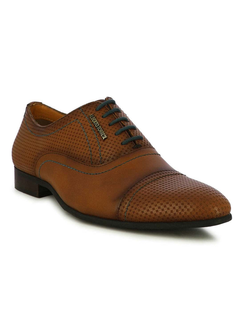 Moray Tan Textured Formal shoes