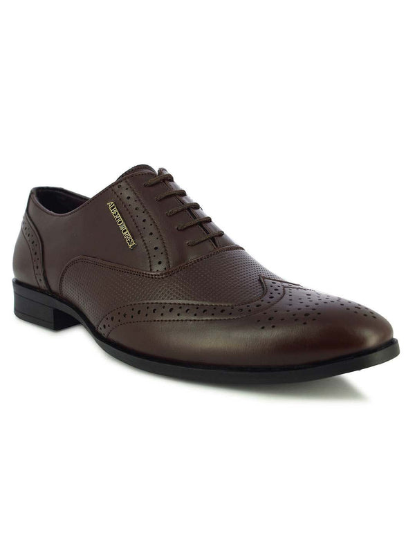 Alberto Torresi Stuttgart Men's Brown Brogue Shoes