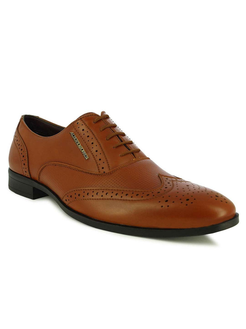 Alberto Torresi Stuttgart Men's Tan Brogue Shoes