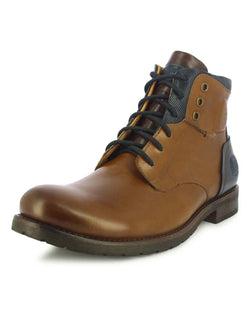 Alberto Torresi Men's Fotin Tan, Brown and Navy Boots