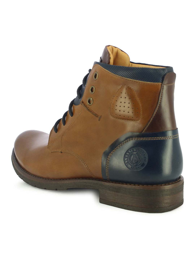 Alberto Torresi Men's Fotin Tan, Blue and Brown Boots