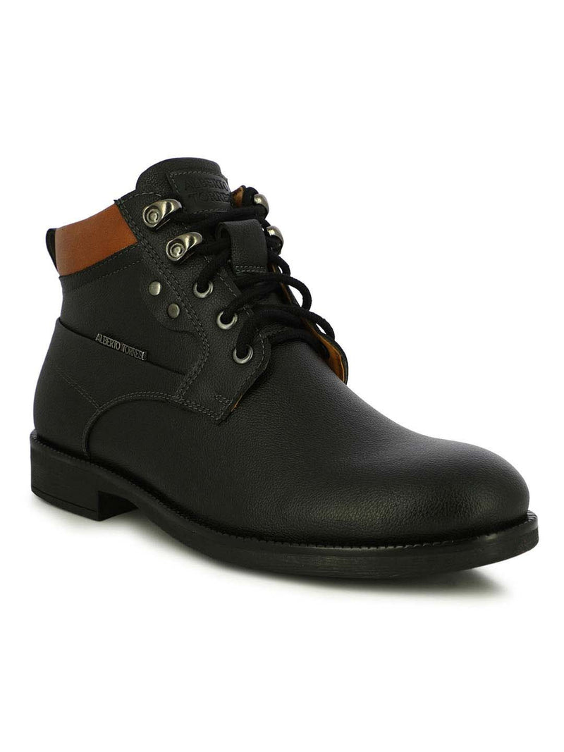 Alberto Torresi Men's Reynad Black and Tan Boots