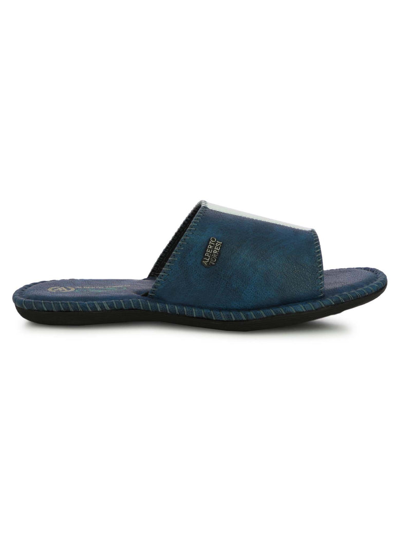 Alberto Torresi Men's Nova Blue Casual Slippers