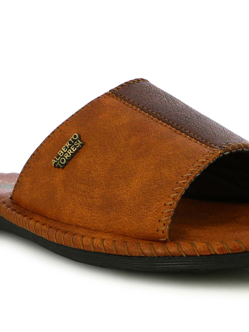 Alberto Torresi Men's Nova Tan Casual Slippers