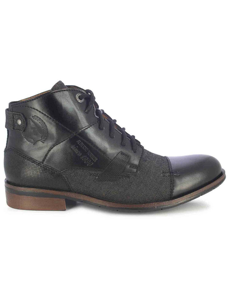 Alberto Torresi Barka Men's Black & Black High-Top Boots