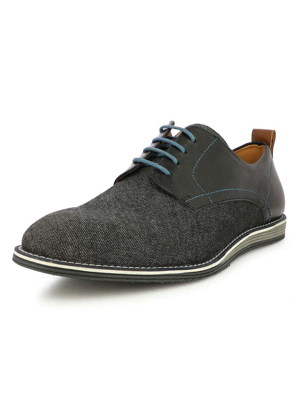Alberto Torresi Men's  James Black Semi-Formal Denim Casual Shoes