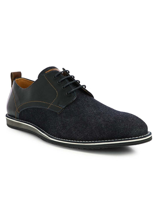Alberto Torresi Men's James Blue Semi-Formal Denim Casual Shoes