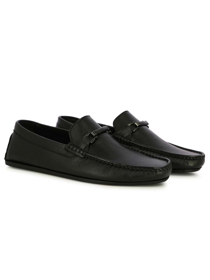 Alberto Torresi Ripon Men's Buckled Black Loafer